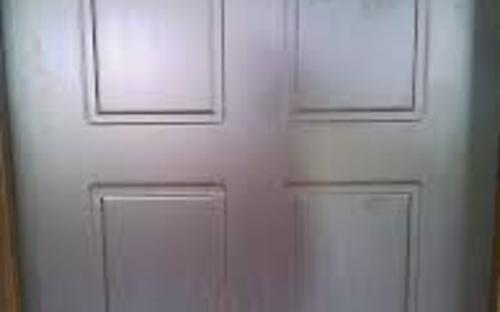 laminated wooden door
