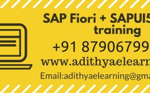 SAP UI5 and Fiori Online Training from India